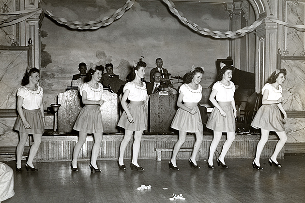 Dance act at a Thermos Co. variety show, 1940s. (Archives & Special Collections, Thomas J. Dodd Research Center)