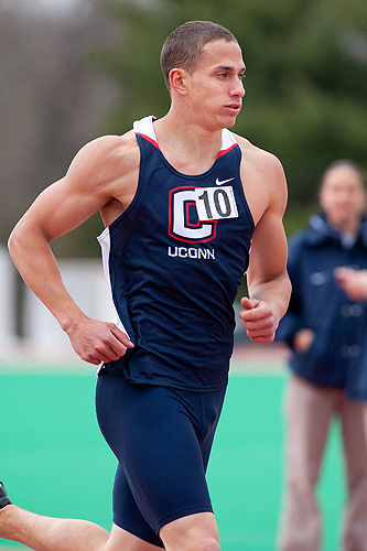 Waruch arrived in Storrs as a 400-meter runner and was then moved to a multisport position on the track and field team. (Steve Slade '89 (SFA) for UConn)
