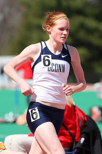 All-American Heather Wilson '12 (CLAS) will compete in the 800 meter race during the NCAA Championship Finals in Des Moines, Iowa. (Steve Slade '89 (SFA) for UConn)