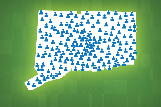 Image showing population across the state of Connecticut.