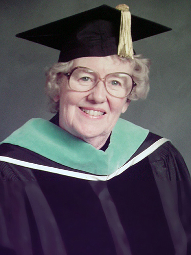 Josephine Dolan in academic regalia. (Photo courtesy of the School of Nursing)