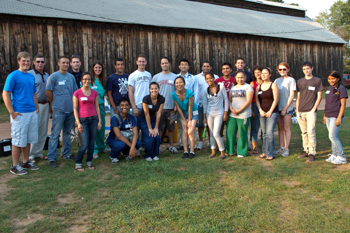Migrant farm worker volunteers at Jarmoc Tobacco Farm in Enfield. (Connie Cantor for UConn Health Center)