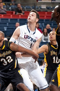 Enosch Wolf '14 (CLAS). a center on the men's basketball team, comes from Goettingen, Germany.