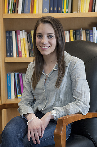 Emily Martens '12 (CLAS), a double major in history and English, was a Presidential Fellow at the Center for the Study of the Presidency and Congress in Washington, D.C. (Daniel Buttrey/UConn Photo)
