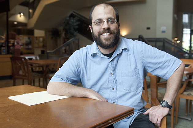 John D'Angelo, former UConn REU student, is now a professor at Alfred University. He returns to UConn regularly to work with his former professors. (Daniel Buttrey/UConn Photo)