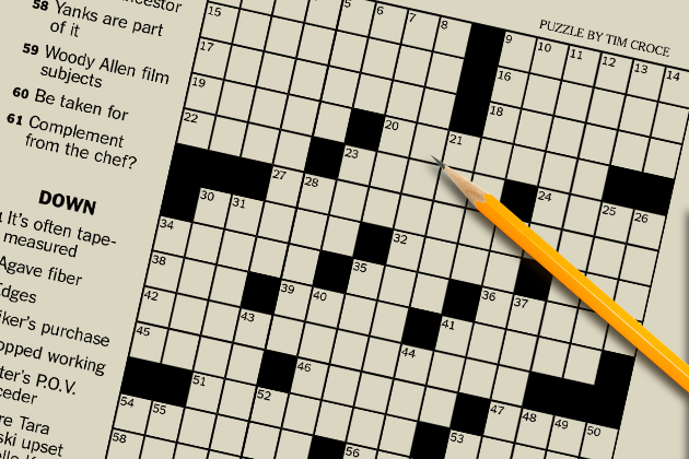 photo about La Times Crossword Printable identified as Coming up with Crosswords for the Contemporary York Instances - UConn Currently