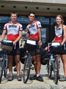 Coast to Coast riders Nate Windon, Sean Burn, and Melina Benson