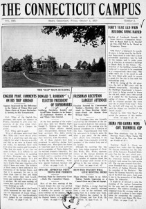 Student newspaper digitized cover from October 4, 1923.