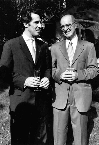 Robert Knapp (left) and Professor Charles Knapp '53, '62. Robert and his siblings have created an endowed associate professorship in electrical engineering in honor of their father, who is now retired. (Photo courtesy of the UConn Foundation)
