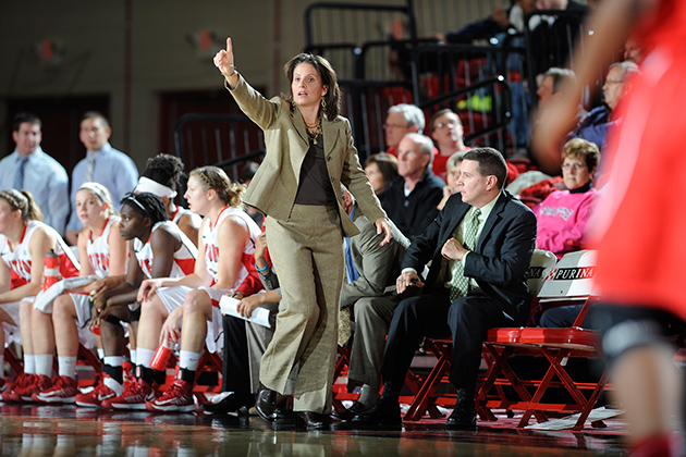 Rizzotti will host the Huskies at the University of Hartford's Chase Arena on Dec. 2 at 1 p.m. (Mike Orazzi/University of Hartford)
