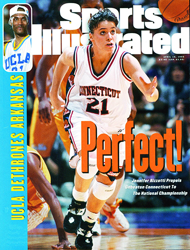 Rizzotti's image on the cover of Sports Illustrated reflected the intensity she brought to UConn's 70-64 win over Tennessee.