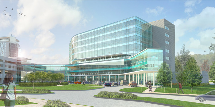 An architectural rendering of the Ambulatory Care Center.