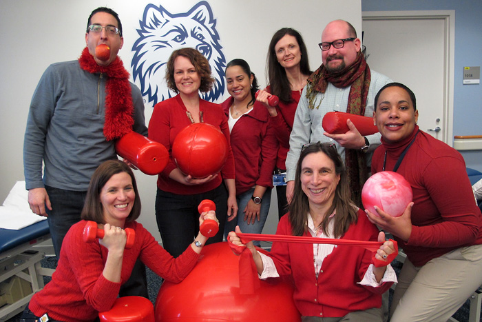 Health Center Rehabilitation and Sports Medicine Goes Red