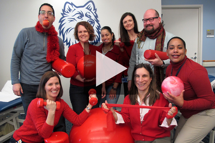 Click on the photo to view a slideshow of Health Center employees getting into the spirit of National Wear Red Day.