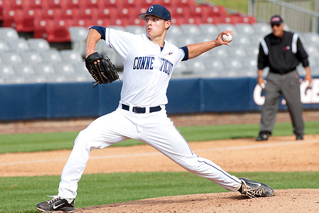 Junior left-hander Anthony Marzi'14 (CLAS) is expected to lead the pitching staff. (Steve Slade '89 (SFA) for UConn)