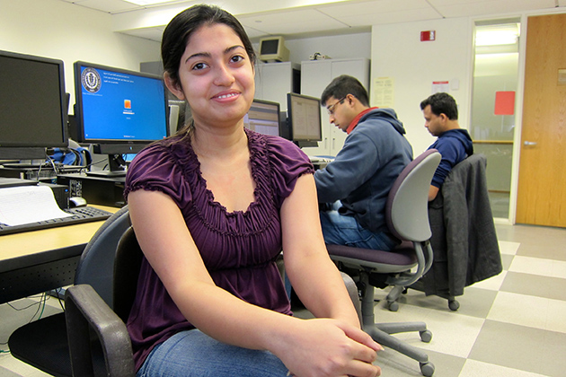 Statistics doctoral student Dooti Roy will analyze behavioral data to understand people's habits with respect to their prescription drugs. (Christine Buckley/UConn photo)
