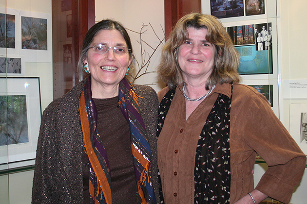 Visual artist Marlow Shami (left) and Professor Pamela Bramble, head of the Litchfield County Arts Project.