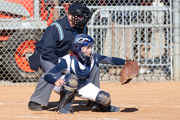 Junior catcher Andrea Huelsenbeck'14 (CLAS) is one of the leading hitters for the softball team. (Steve Slade '89 (SFA) for UConn)