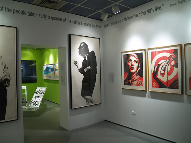 'Gatsby Revisited in the Age of the One Percent,' an exhibition at the Contemporary Art Galleries through April 19, focuses on The Great Gatsby's themes of wealth, class, and social and moral values. (Photo courtesy of CAG)