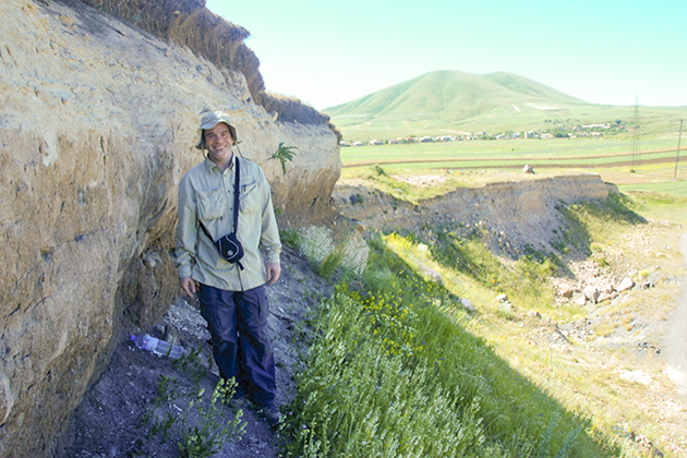 Anthropology Ph.D. student Phil Glauberman during a recent field work trip to Armenia.