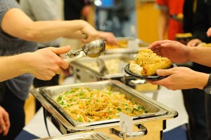 Traditional food is served at the Lunar New Years Celebration at the Student Union on March1, 2013. (Max Sinton '15 (CANR)/UConn Photo)
