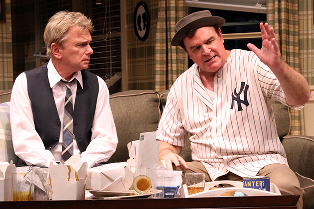 Pat Sajak (left) starred as Felix Ungar opposite Joe Moore's Oscar Madison in the Neil Simon classic,