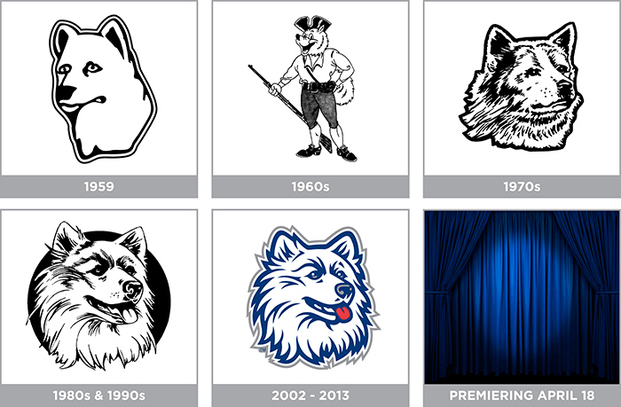 The Jonathan Husky image has changed several times since the husky dog was adopted as the University mascot in 1935.