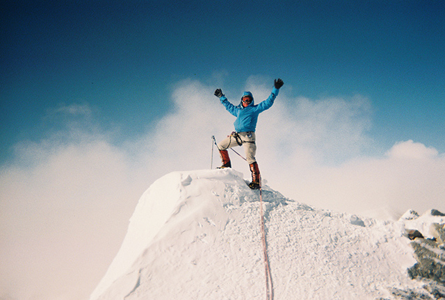 Masheter reaches Antarctica's highest peak on January 8, 2012.
