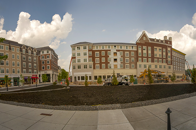 New housing, businesses, and other services opened throughout the year at Storrs Center. (Sean Flynn/UConn Photo)