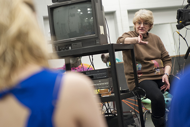 Pat McCorkle teaches classes in 'Acting for the Camera' and 'Audition Technique.' (Sean Flynn/UConn Photo)