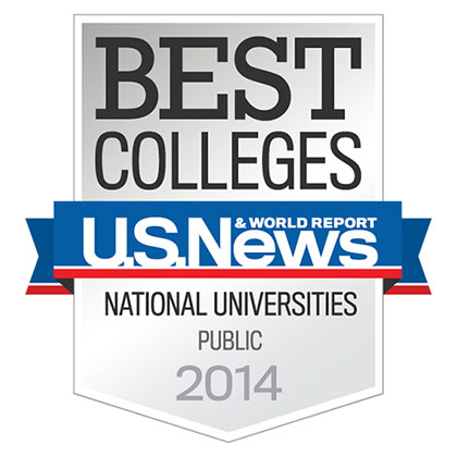 UConn was ranked #19 among public universities by U.S. News & World Report, its highest spot to date. And Kiplinger's Personal Finance named the University #25 on its list of 100 best values in public colleges for 2013-2014.