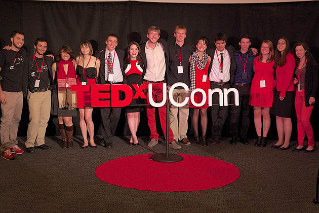 Undergraduate students organized the first TEDxUConn event, with speakers from academia, industry, and medicine offering their 18-minute takes on technological, sociocultural, and global trends. (Photo by Shervin Etemad)