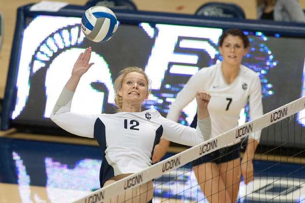 Jackie Wattles is a student athlete who plays for the volleyball team. (Steve Slade'89 (SFA) for UConn)