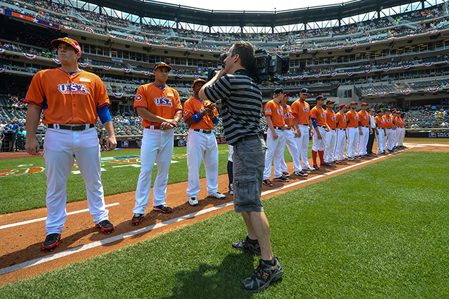 During the 2013 SiriusXM All-Star Futures Game against the World Team at Citi Field Sunday, July 14, 2013, in the Flushing neighborhood of the Queens borough of New York City. (Photo by Rob Tringali/MLB Photos via Getty Images)