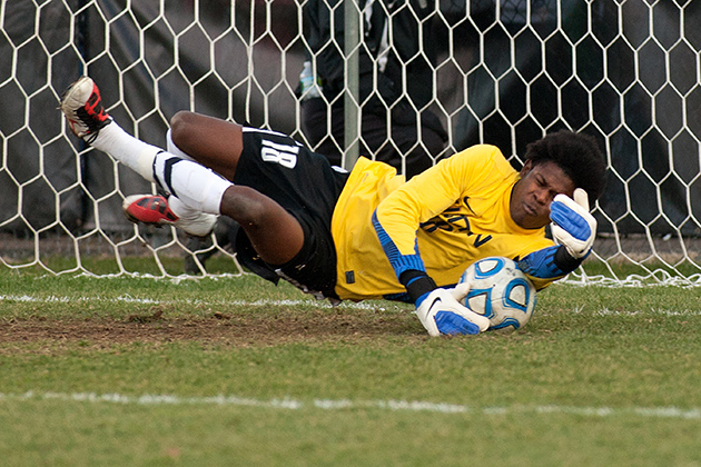 UConn's All-American goalkeeper Andre Blake '15 (CLAS) is the first goalkeeper selected #1 in the MLS draft. (Steve Slade '89 (SFA) for UConn)