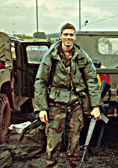 Jim Trainor '93 MPA as a military intelligence officer in Germany in 1989.