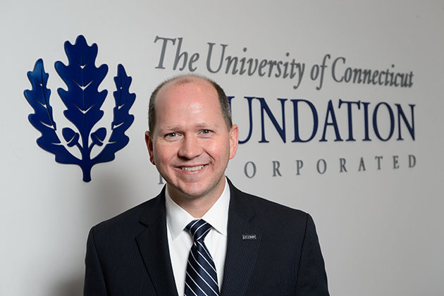 Josh Newton, president and CEO of the UConn Foundation on Nov. 13, 2013. (Peter Morenus/UConn Photo)