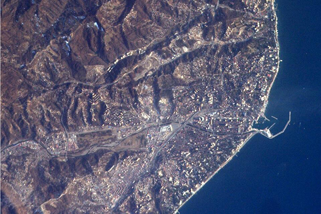 NASA astronaut and UConn alum Rick Mastracchio tweeted this photo of Sochi and its surroundings on the Black Sea coast in advance of next month's Winter Olympics. He and his fellow astronauts at the International Space Station are taking pictures of Earth as the view speeds past at 17,500 miles an hour, 260 miles below them.