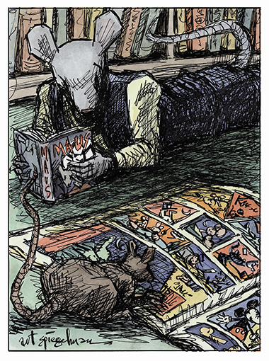 Maus Self-portrait, by Art Spiegelman.