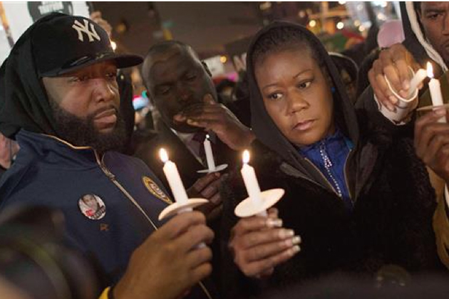 Sybrina Fulton, right, shown during a candelight vigil for her son, will give a presentation on Feb. 28 in honor of Black History Month. (Photo courtesy of The Trayvon Martin Foundation)