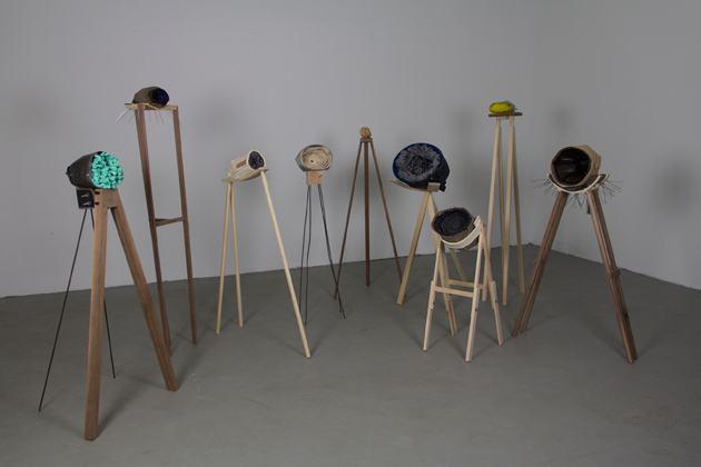 'Geodes,' by Shane Morrissey '14 MFA, on display at the Benton Museum as part of the 2014 MFA Exhibition.  (Benton Museum/UConn Photo)