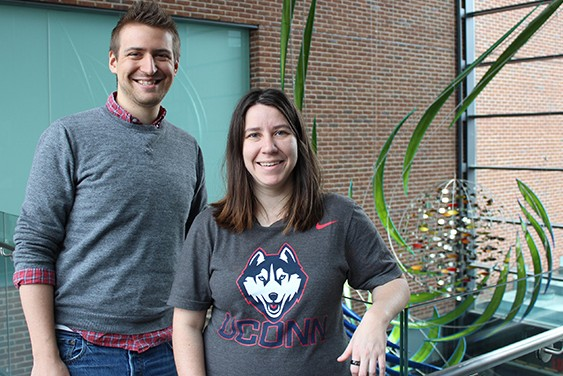 Andrew Frank and Emma Shelly, both first-year Ph.D. students in the Department of Ecology and Evolutionary Biology, have earned Graduate Research Fellowships from the National Science Foundation (NSF). (Bri Diaz/UConn Photo)