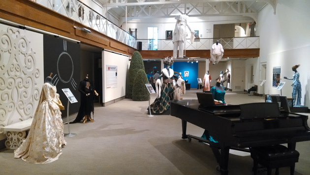 'Stagecraft,' an exhibition of theater, costume, and set design from 50 years at the Hartford Stage, is on display at the Benton Museum through Aug. 10. (Ken Best/UConn Photo)