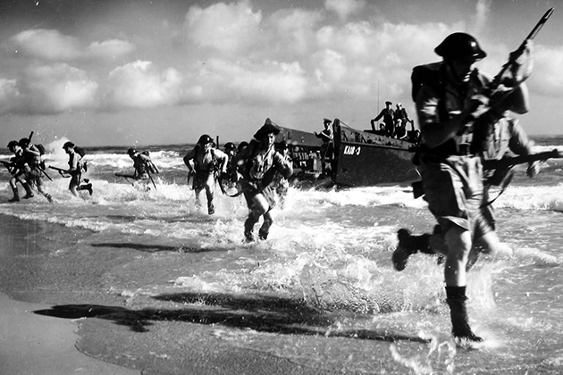 The Allied invasion of Normandy, widely considered the turning point of World War II, took place in 1944. (historylink101.com image)