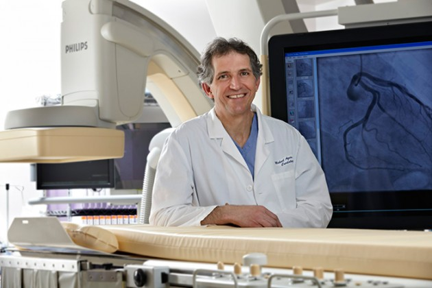 Dr. Michael Azrin, director of the Cardiac Catheterization Laboratory and director of interventional cardiology at the Pat and Jim Calhoun Cardiology Center. (Lanny Nagler for UConn Health)