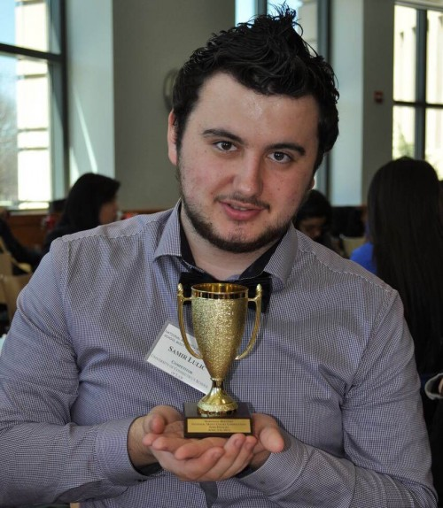 Incoming UConn Hartford student Samir Lulic advanced to the semi-finals of the Marshall-Brennan Constitutional Literacy Project National High School Moot Court Competition held in Washington, D.C. (Photo courtesy of Justin Taylor)