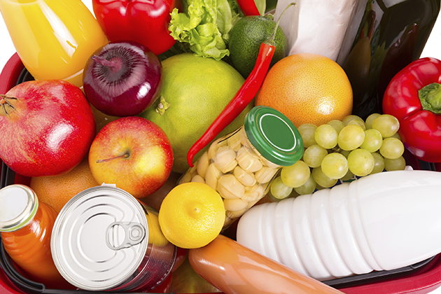 Groceries, including various fruits and vegetables. (iStock Photo)