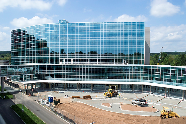 The UConn Health outpatient building is being prepared for opening in early 2015 on September 5, 2014. (Tina Encarnacion/UConn Health Photo)