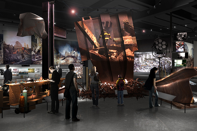 Rendering of an exhibit focusing on recovery efforts at the World Trade Center, on display at the 9/11 Museum in New York City. (9/11memorial.org Photo)