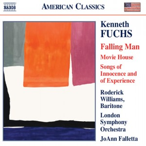 """Cover of Kenneth Fuch's new CD, """"Falling Man"""" with Helen Frankenthaler's painting """"The Human Edge"""" on the cover."""